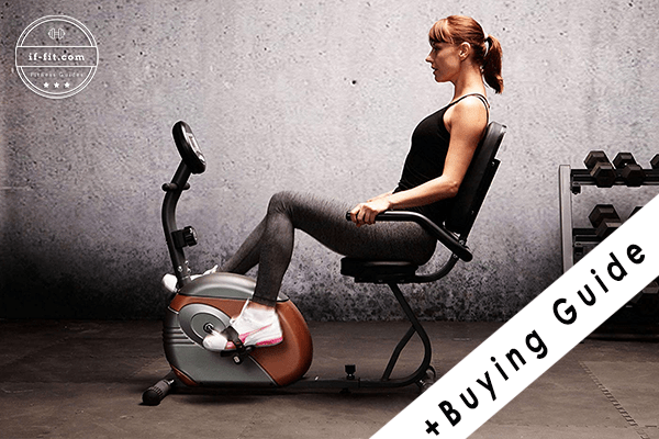 woman using a recumbent bike