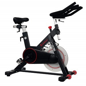 Sunny Health & Fitness Magnetic Belt Drive Indoor Cycling Bike with 300 lb User Weight Limit