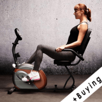 woman using a recumbent bike
