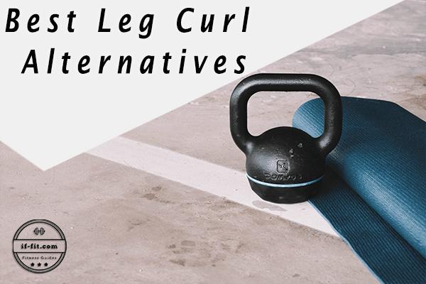 Best Leg Curl Alternatives main Photo with a Kettlebel and a Yoga Mat